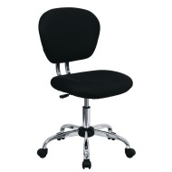 Mid-Back Mesh Swivel Task Chair, Black
