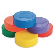 Spectrum™ Lightweight Hollow Plastic Floor Hockey Pucks (Set of 6)