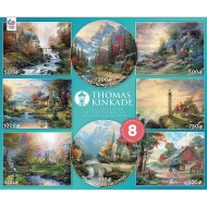 Thomas Kinkade 8-In-1 Puzzle Assortment