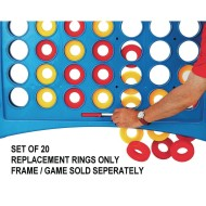 Replacement Rings for Super 4 In A Line Game (Pack of 20)