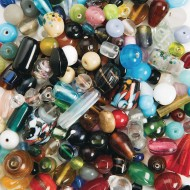 Exotic Glass Bead Assortment 1/2-lb Bag
