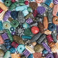 Old World Moroccan Style Beads 1-lb Bag