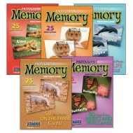 Photographic Memory Card Game, Animal Set