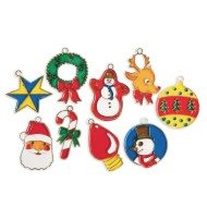 Christmas Cuties Stain-A-Frames Craft Kit