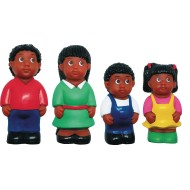 African-American Family Play Figures