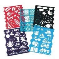 Plastic Stencils Assorted Designs