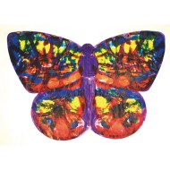 Life-Size Finger Paint Paper - Butterfly Shape