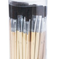 Bristle Brush Assortment Pack, Black