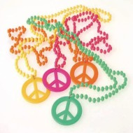 Peace Sign Necklace (Pack of 12)