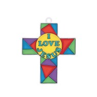 """I Love Jesus"" Cross Sun Catcher"