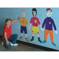 Life-Size Finger Paint Paper - Kid Shape