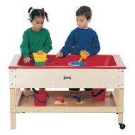 Sensory Table with Shelf