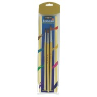 Sargent Art Assorted Flat Brushes with Wooden Handles