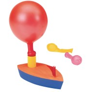 Wooden Balloon Powered Boat Craft Kit