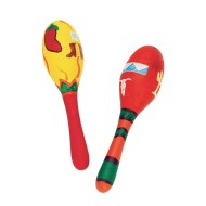 Unfinished Wooden Maracas (Pack of 12)