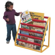 5 Pocket Clear Book Display w/Casters