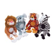 Wild Animals with Closable Hands (Pack of 12)