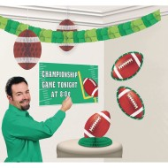 Football Room Decorating Kit with Customizable Sign