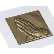 Praying Hands Raised Foil Plaque Craft Kit