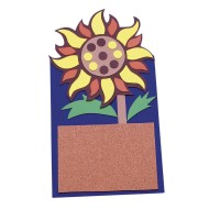 Allen Diagnostic Module Sunflower Memo Board Craft Kit (Pack of 12)