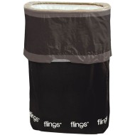 Flings® Pop-Up Trash Bin, Black