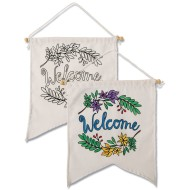 Velvet Art Welcome Banner (Pack of 12)