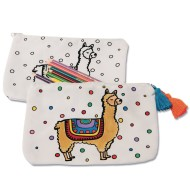 Velvet Art Fabric Llama Pouch (Pack of 12)