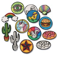 Velvet Art Iron-On Patches to Color (Pack of 100)