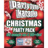 Party Tyme Karaoke CD+G Christmas Party Pack (Pack of 4)