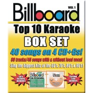 Party Tyme Karaoke CD+G Billboards Top 10 Box Set