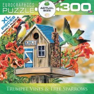 Trumpet Vines/Tree Sparrows 300-Piece Puzzle