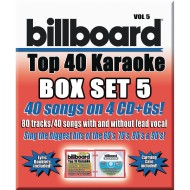 Party Tyme Karaoke CD+G Billboards Top 40 Box Set 5