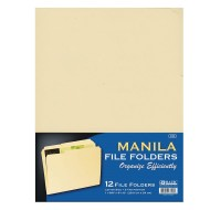 Manila File Folders (Pack of 12)