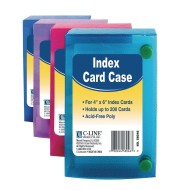 "4"" x 6"" Index Card Case Value Pack (Pack of 24)"