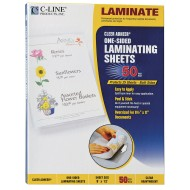 "Cleer Adheer® Heavyweight Laminating Sheets, 9"" x 12"" (Box of 50)"