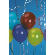 Latex Balloons. Assorted Colors, 9