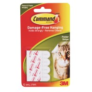 3M Command™ Adhesive Damage Free Poster Strips (Pack of 12)