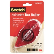 Scotch® Permanent Double Sided Adhesive Dot Roller, 49'