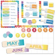 Painted Palette Calendar Bulletin Board Set