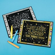 May the Lord Be With You Velvet Art Poster