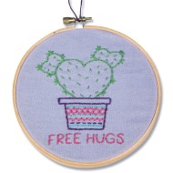 Cactus Hugs Embroidery Craft Kit (Pack of 12)