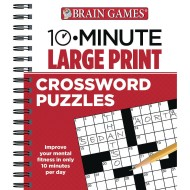 10 Minute Large Print Crossword Puzzles Book