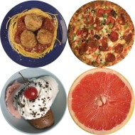 Thera-Jigsaw™ Foam Puzzles Set: Grapefruit, Ice Cream, Spaghetti, and Pizza ( of 4)