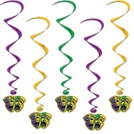 Mardi Gras Danglers (Pack of 5)