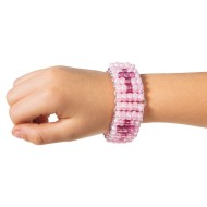 Pony Bead Pink Cross Bracelet Kit