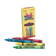 Color Splash!® Crayons Box of 4 (Pack of 36)