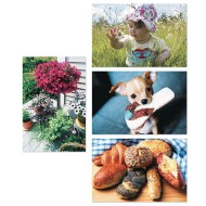 Thera-Jigstick™ Puzzle Set D: Baby, Flowers, Bread, Puppy