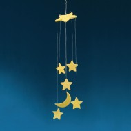 Glow-in the-Dark Moon & Stars Mobile Craft Kit (Pack of 12)