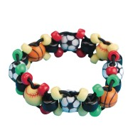 Sports Bead Bracelet Craft Kit (Pack of 12)