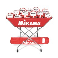 Mikasa® Hammock-Style Volleyball Ball Cart, Scarlet